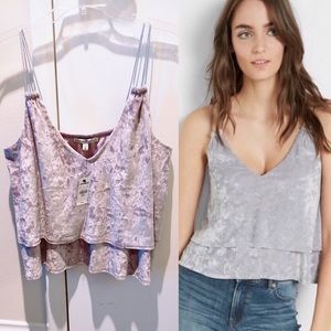 NWT Express Crushed Velvet Cami Top